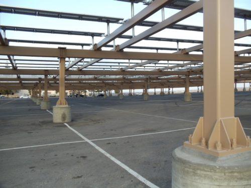 solar panel carport at BC parking lot