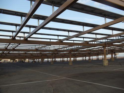 Bakersfield College solar panel carport
