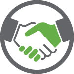 Commitment handshake icon