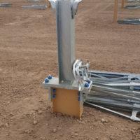 Coated Kern Solar Steel X-Pile