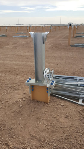 Coated Kern Solar Steel X-Pile