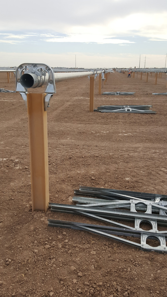 Coated Solar Steel Pile