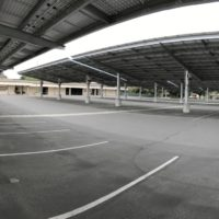Kern High Solar CarPorT solar parking canopy under view