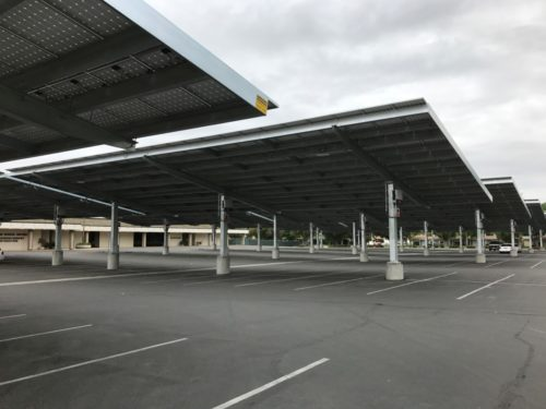 Solar CarPorT solar parking canopy at KHSD