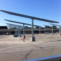 Solarv Double-Cantilever CarPorT solar parking canopy at KHSD