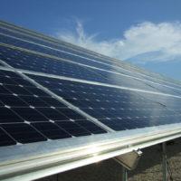 solar panel ground mounts Solar Structure panel close up