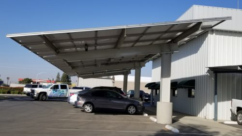 Pav Solar's single cantilever solar carport structure