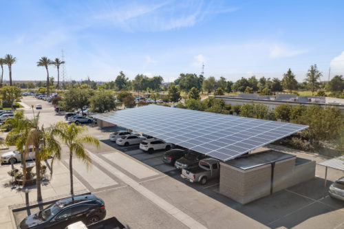 standard double cantilever solar carport Imbibe solar covered parking panels