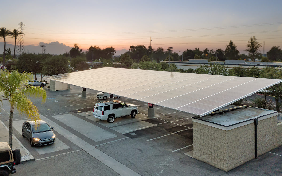 standard double cantilever solar carport at imbibe wine