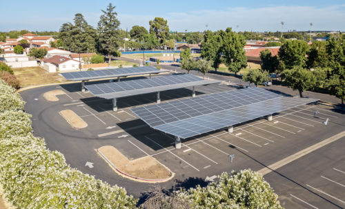Inverted Cantilever commercial solar carport project