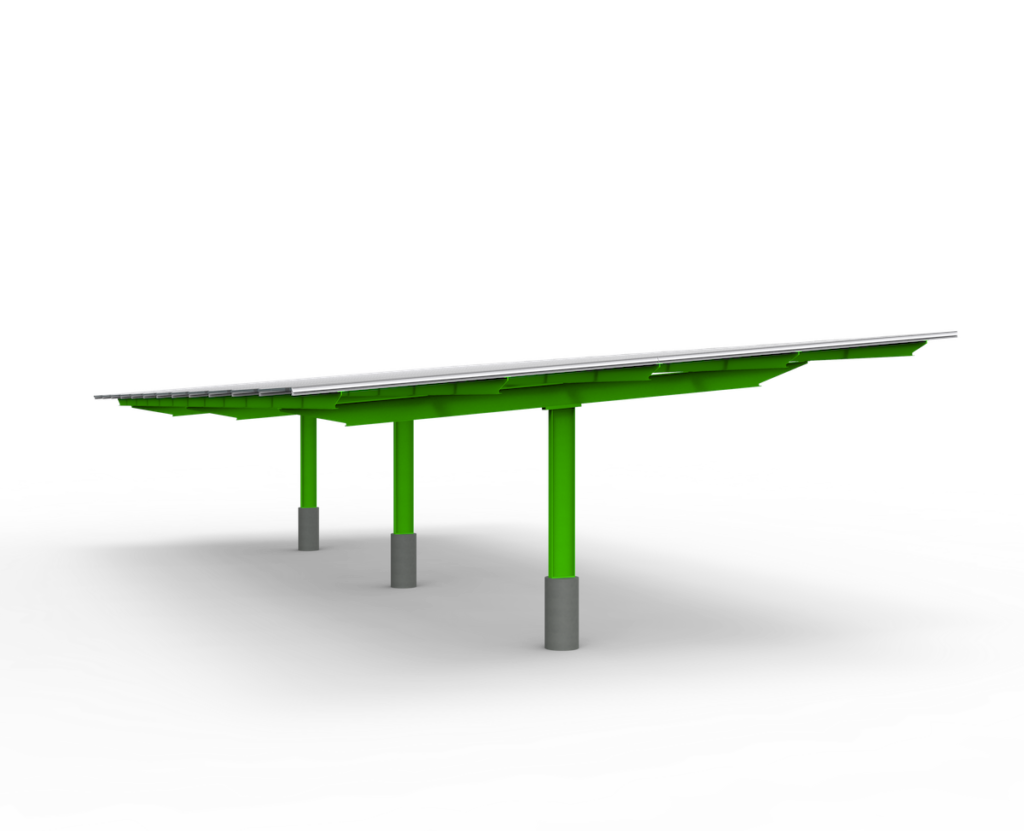 Double cantilever commercial carport example