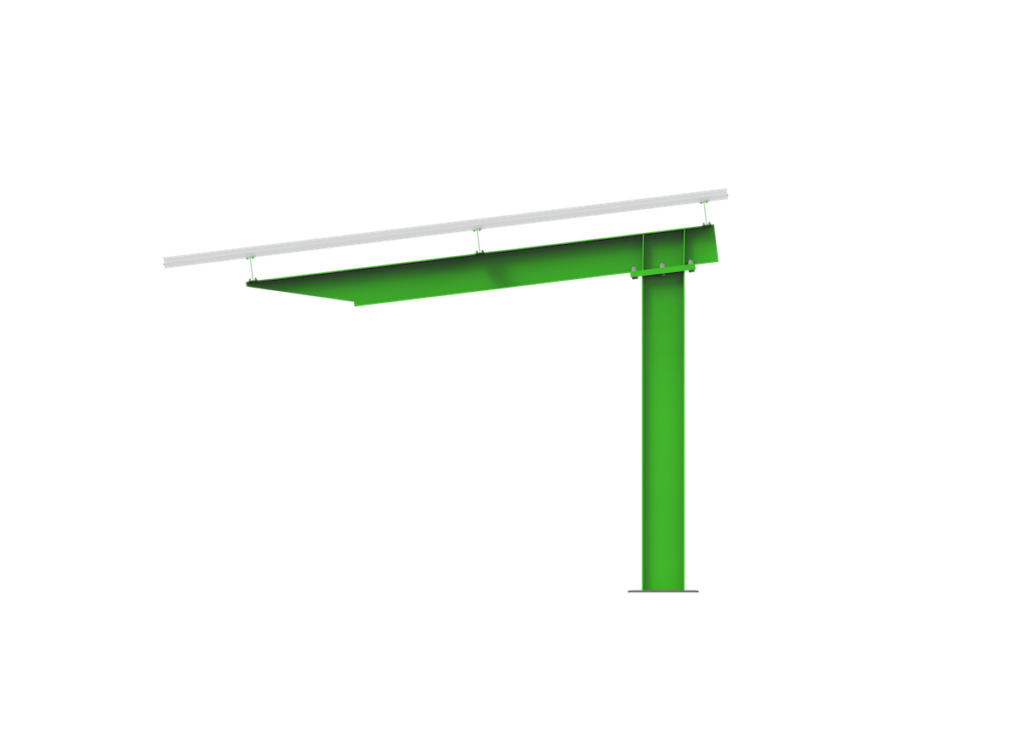 commercial solar carport single cantilever side view