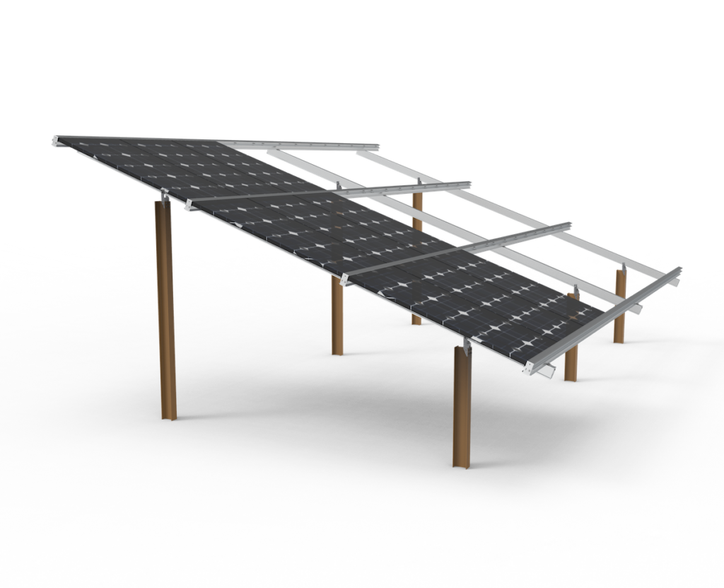 solar x-piles for solar panel foundation example image