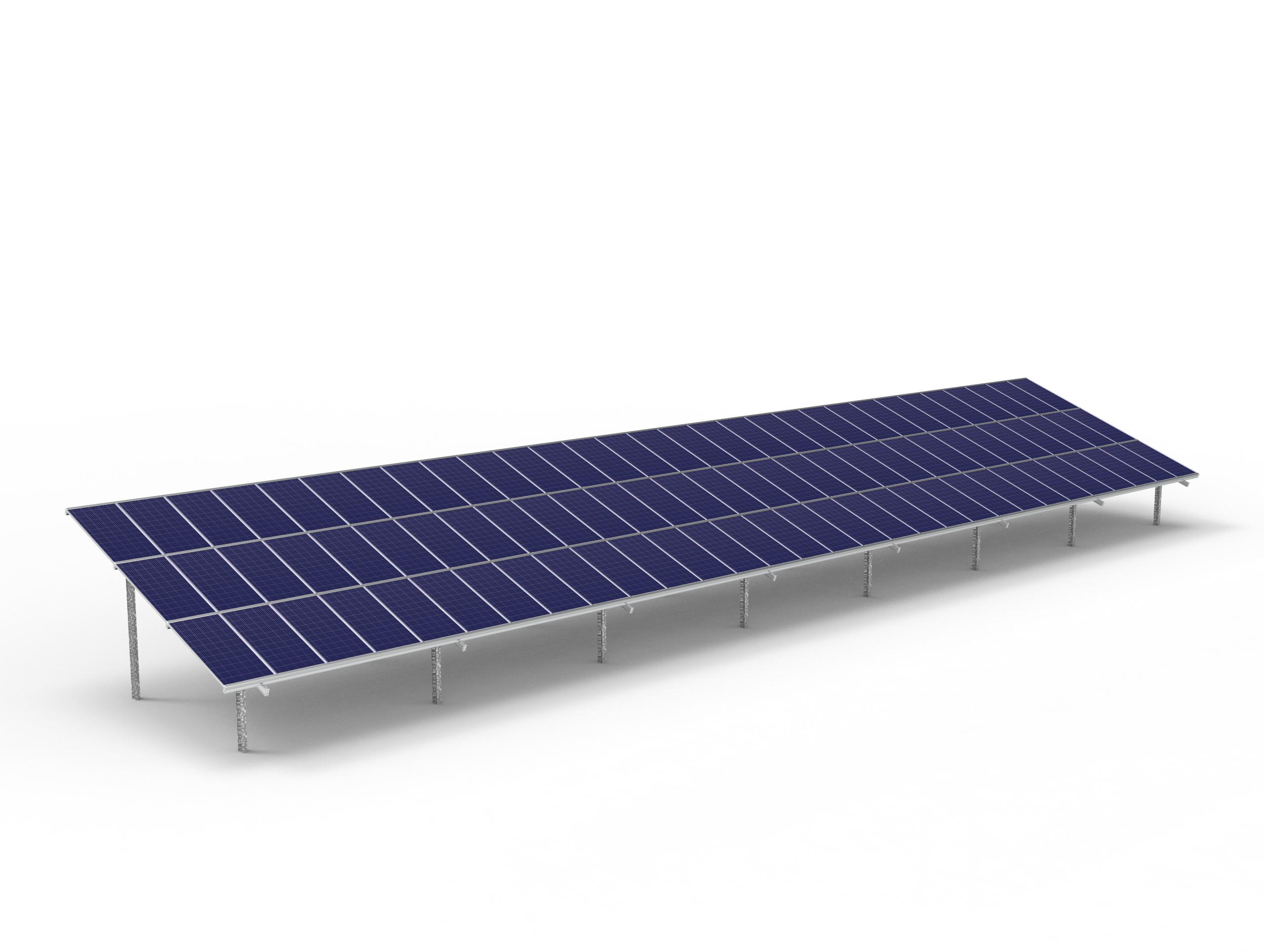 90 module Max solar ground mount table