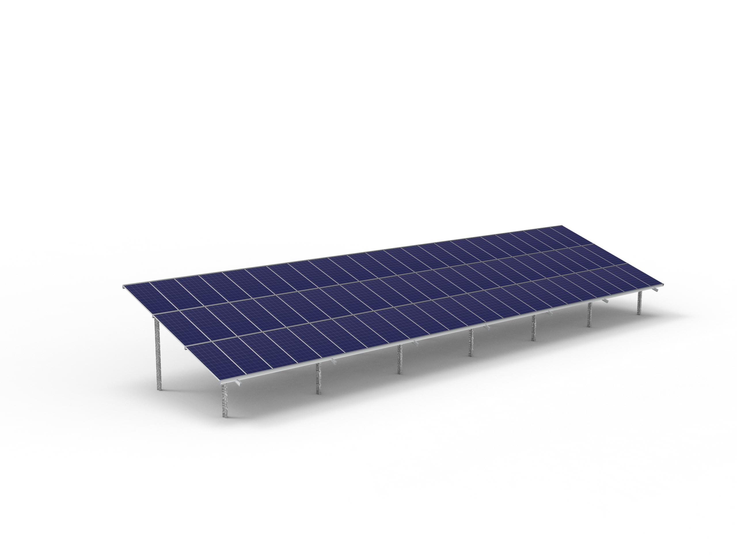 72 module Max solar ground mount table