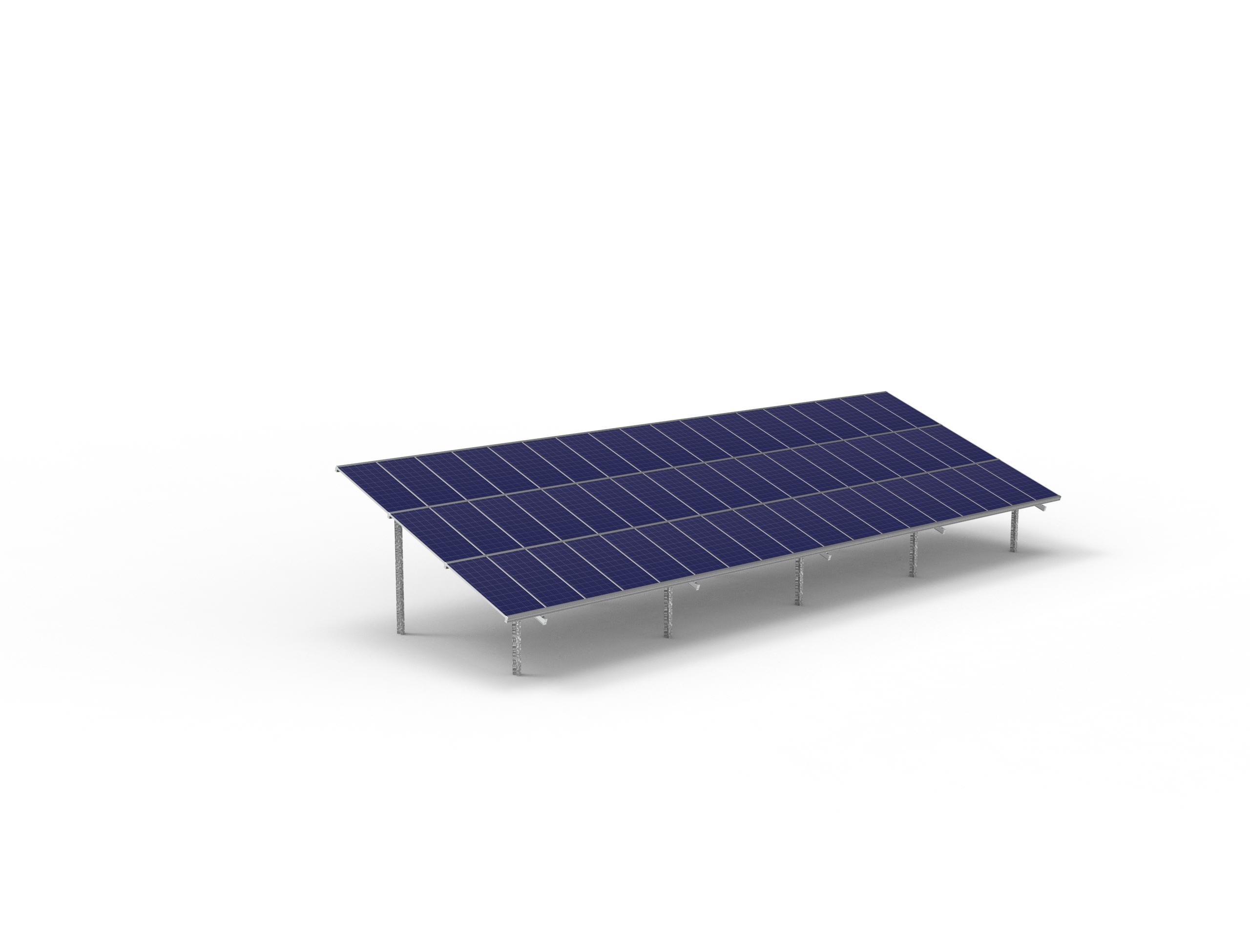 54 module Max solar ground mount table
